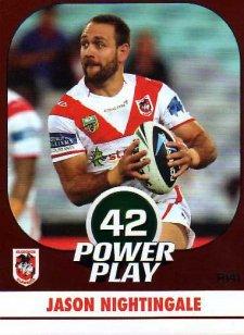 2015 NRL Power Play Parallel #141 Jason Nightingale Dragons