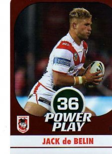 2015 NRL Power Play Parallel #135 Jack De Belin Dragons