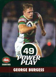 2015 NRL Power Play Parallel #122 George Burgess Rabbitohs