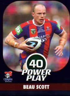 2015 NRL Power Play Parallel #86 Beau Scott Knights