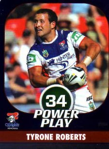 2015 NRL Power Play Parallel #84 Tyrone Roberts Knights