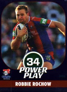 2015 NRL Power Play Parallel #85 Robbie Rochow Knights