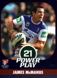 2015 NRL Power Play Parallel #82 James McManus Knights