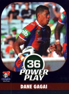 2015 NRL Power Play Parallel #79 Dane Gagai Knights