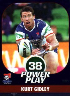 2015 NRL Power Play Parallel #80 Kurt Gidley Knights