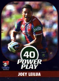 2015 NRL Power Play Parallel #81 Joey Leilua Knights