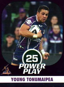 2015 NRL Power Play Parallel #77 Young Tonumaipea Storm