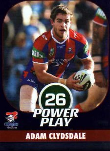 2015 NRL Power Play Parallel #78 Adam Clydsdale Knights
