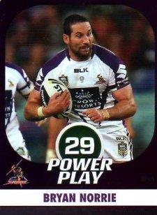 2015 NRL Power Play Parallel #74 Bryan Norrie Storm