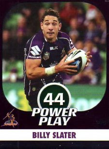 2015 NRL Power Play Parallel #75 Billy Slater Storm