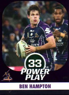 2015 NRL Power Play Parallel #71 Ben Hampton Storm
