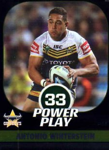 2015 NRL Power Play Parallel #44 Antonio Winterstein Cowboys