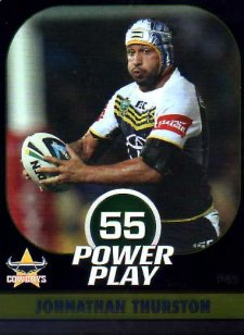 2015 NRL Power Play Parallel #43 Johnathan Thurston Cowboys