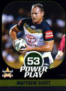 2015 NRL Power Play Parallel #40 Matthew Scott Cowboys