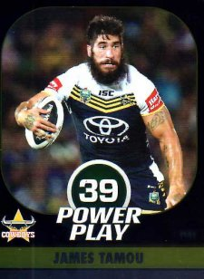 2015 NRL Power Play Parallel #41 James Tamou Cowboys