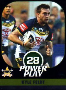 2015 NRL Power Play Parallel #35 Kyle Feldt Cowboys