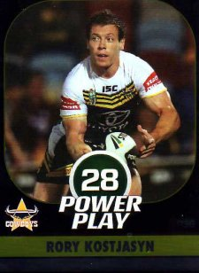 2015 NRL Power Play Parallel #36 Rory Kostjasyn Cowboys