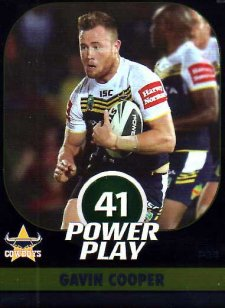 2015 NRL Power Play Parallel #34 Gavin Cooper Cowboys