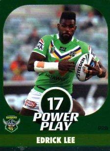 2015 NRL Power Play Parallel #28 Edrick Lee Raiders