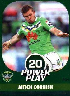 2015 NRL Power Play Parallel #24 Mitch Cornish Raiders