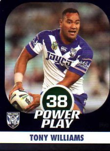 2015 NRL Power Play Parallel #22 Tony Williams Bulldogs