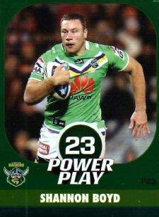 2015 NRL Power Play Parallel #23 Shannon Boyd Raiders