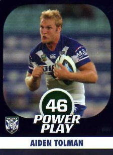 2015 NRL Power Play Parallel #21 Aiden Tolman Bulldogs