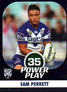2015 NRL Power Play Parallel #18 Sam Perrett Bulldogs