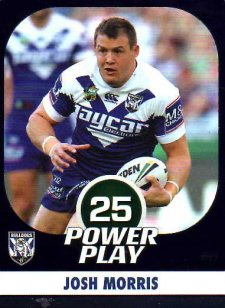 2015 NRL Power Play Parallel #17 Josh Morris Bulldogs