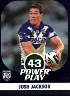 2015 NRL Power Play Parallel #15 Josh Jackson Bulldogs