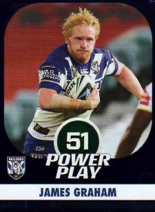 2015 NRL Power Play Parallel #13 James Graham Bulldogs