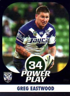 2015 NRL Power Play Parallel #12 Greg Eastwood Bulldogs