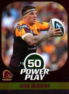 2015 NRL Power Play Parallel #8 Josh McGuire Broncos