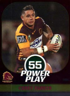 2015 NRL Power Play Parallel #10 Corey Parker Broncos