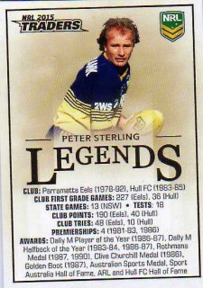 2015 NRL Traders Case Card #CC2 Peter Sterling Eels