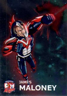 2015 NRL Traders Galactic Heroes #GH16 James Maloney Roosters