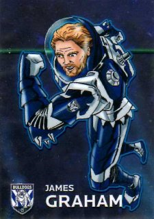 2015 NRL Traders Galactic Heroes #GH2 James Graham Bulldogs