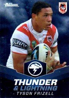 2015 NRL Traders Thunder & Lightning #TL25 Tyson Frizell Dragons