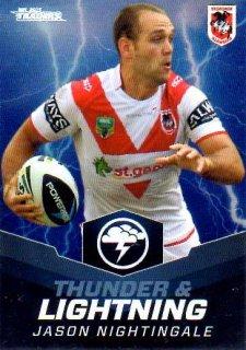 2015 NRL Traders Thunder & Lightning #TL26 Jason Nightingale Dragons