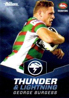 2015 NRL Traders Thunder & Lightning #TL23 George Burgess Rabbitohs