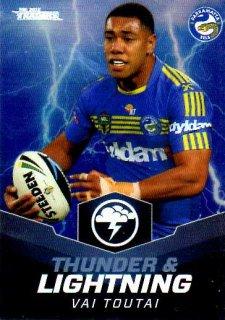 2015 NRL Traders Thunder & Lightning #TL18 Vai Toutai Eels
