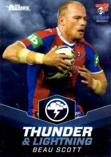 2015 NRL Traders Thunder & Lightning #TL15 Beau Scott Knights