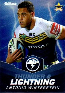 2015 NRL Traders Thunder & Lightning #TL8 Antonio Winterstein Cowboys