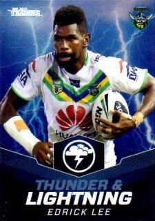 2015 NRL Traders Thunder & Lightning #TL6 Edrick Lee Raiders