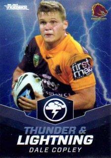 2015 NRL Traders Thunder & Lightning #TL2 Dale Copley Broncos