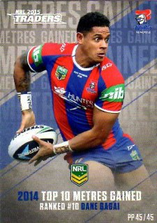 2015 NRL Traders Pieces of the Puzzle #PP45 Dane Gagai Knights