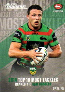 2015 NRL Traders Pieces of the Puzzle #PP27 Sam Burgess Rabbitohs