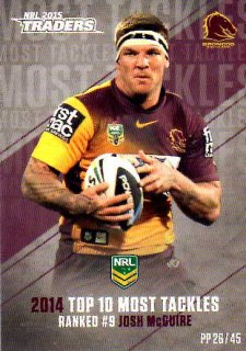 2015 NRL Traders Pieces of the Puzzle #PP26 Josh McGuire Broncos