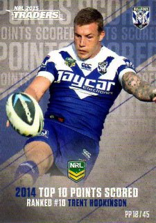 2015 NRL Traders Pieces of the Puzzle #PP18 Trent Hodkinson Bulldogs