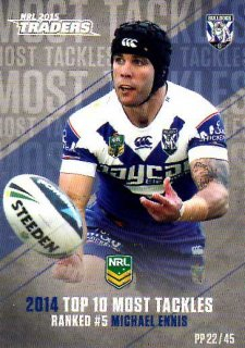 2015 NRL Traders Pieces of the Puzzle #PP22 Michael Ennis Bulldogs